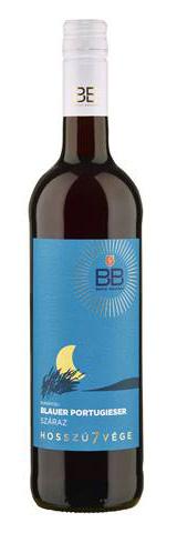 BB hosszú7vége Blauer Portugieser, száraz vörös, 0.75 l