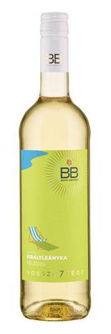 BB hosszú7vége Királyleányka száraz fehér, 0.75 l