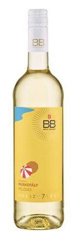 BB hosszú7vége Muskotály, félédes fehér, 0.75 l