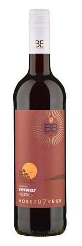 BB hosszú7vége Zweigelt, száraz vörös, 0.75 l