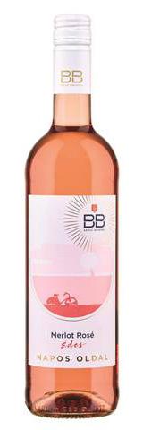 BB Napos oldal Merlot Rosé száraz, 0.75 l