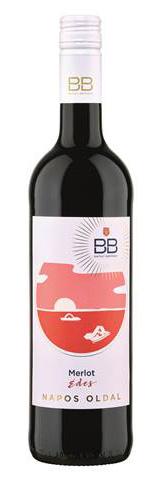 BB Napos oldal Merlot, száraz vörös, 0.75 l