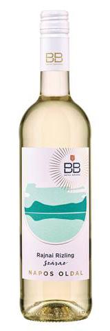 BB Napos oldal Rajnai Rizling, száraz fehér, 0.75 l