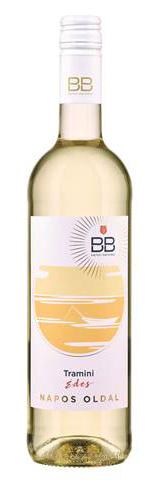 BB Napos oldal Tramini, száraz fehér, 0.75 l